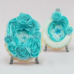 Ruffle Rose Easter Sugar Cookie Frame on Cake Central