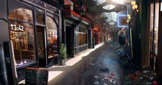 HD wallpaper: street of stores, Remember Me, futuristic, screen shot, markets Game Environment, Environment Concept Art, Environment Design, Original Wallpaper, I Wallpaper, Cyberpunk City, Technology Wallpaper, Alleyway, Animation Background