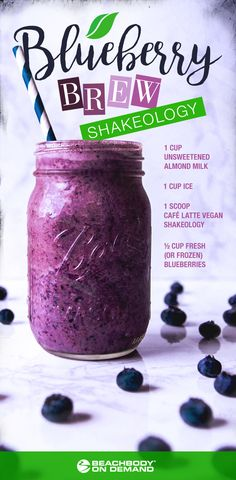Blueberry Brew Shakeology (but maybe try with chocolate or vanilla instead)