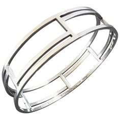 Rey Urban for Age Fausing Scandinavian Modern Silver Bangle, 1960s-1970s | From a unique collection of vintage bangles at https://www.1stdibs.com/jewelry/bracelets/bangles/