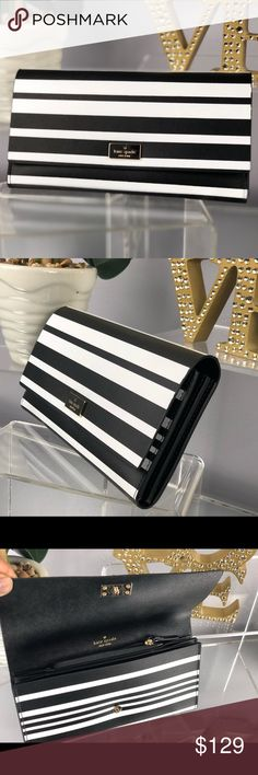 Kate Spade Pim Putnam Drive Wallet Black White Kate Spade Pim Putnam Drive Wallet Black White Striped  NWT...Brand New Color: Black and white stripes   *Bag sold separately in my closet kate spade Bags Wallets