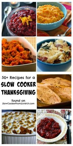50+ Recipes for a Slow Cooker Thanksgiving featured on SlowCookerFromScratch #reciperoundup #Thanksgivingdinner #slowcooker #crockpot  #sidedish #sweetpotatoeshttp://www.slowcookerfromscratch.com/2013/11/50-recipes-for-slow-cooker-thanksgiving.html  updated for 2014.