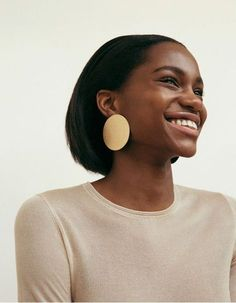 Gold disc statement earrings | Honey of California ZINE