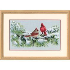 Winter Cardinals by Dimensions - Cross Stitch Kits & Patterns