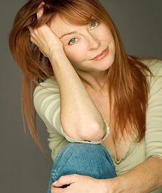 Elvira, Mistress of The Dark - in her natural state. Cassandra Peterson without the make-up and wig.