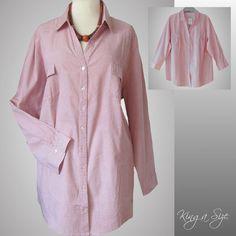 Sportliche Bluse / Hemdbluse Hemd Blusenjacke - 100% Baumwolle Gr.48 NEU - N6