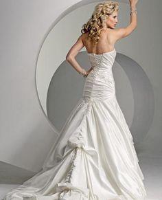 wedding dresses a line wedding dresses 2013 wedding dresses jewel neckline a-line/princess strapless chapel train wedding dress for brides 2014 style