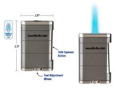 XIKAR Allume Triple Jet Flame Tabletop Cigar Lighter