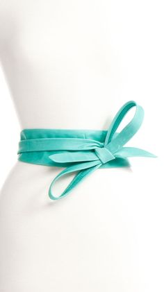 Wrap Belt - Aqua by ADA Collection, Great color! I love this! Matches my new shoes = ))