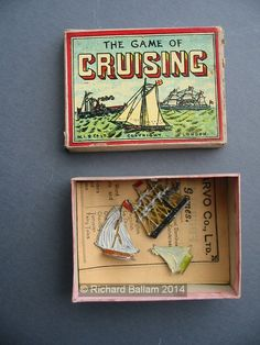 An example of the game Cruising with pictures, Name Games, Vintage Games, Wooden Boxes, Board Games, Fairy Tales, Toys, Pictures, Christmas, Games