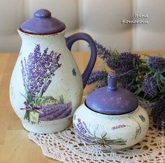 Купить Комплект для кухни в стиле прованс - прованс, Керамика, пищевая керамика, Декупаж, кухня Прованс
