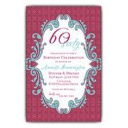 Raspberry Maze 60th Birthday Invitations | PaperStyle