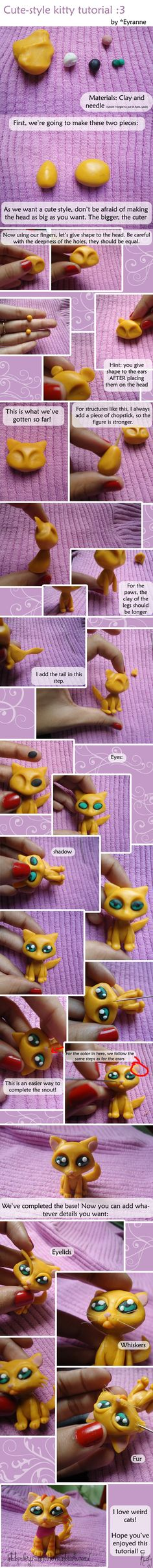 Kitty Tutorial by *Eyranne on deviantART