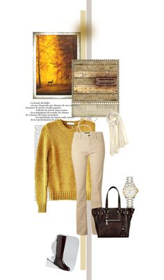"""""""Autumn forest colours and Belen Echandia Paris Tote"""" by ilovehandbags on Polyvore"""