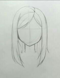 Hair Drawing Straight Hairstyles 39 Ideas For 2019 Haare zeichnen gl Art Drawings Sketches Simple, Pencil Art Drawings, Easy Drawings, Drawing Ideas, Drawing Guide, Drawing Faces, Simple Face Drawing, Drawing Drawing, Drawing Techniques Pencil