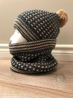Ensemble bonnet et snood col tricoté à la main par EmmaHDesign
