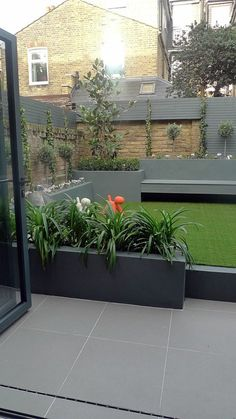 modern small low maintenance garden fake grass grey raised beds contemporary planting chelsea london - Gardening Worlds Contemporary Garden Design, Landscape Design, Contemporary Interior, Contemporary Architecture, Landscape Architecture, Contemporary Cottage, Contemporary Apartment, Contemporary Wallpaper, Contemporary Style