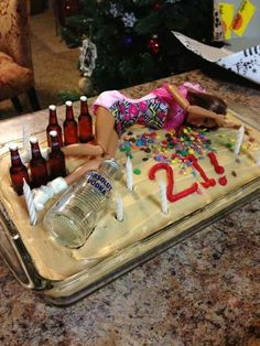 Party girl cake - good for 18th, 21st or hens