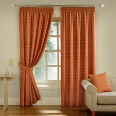 Montgomery Terracotta 'Balamory' Fully Lined Pencil Pleat Curtains- at Debenhams.com