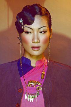 Make up : D.Y (Derek Yuan) - Hair Style : Daniel Wong - Model : Nha Truc - Stylist : Kim Tuyen - Photographer : Quang Khue