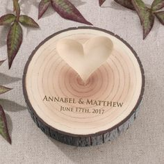 Personalised Tree Ring Holder - Wooden Wedding Ring Holder by SouthendWeddingStore on Etsy https://www.etsy.com/listing/256825428/personalised-tree-ring-holder-wooden