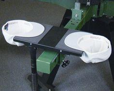 New Junior Vacuum Pallet allows decorators to print the underside of two cap brims simultaneously. From Vastex International, Pennsylvania, vastex.com