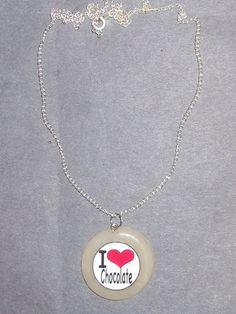 handmade clay charm necklace