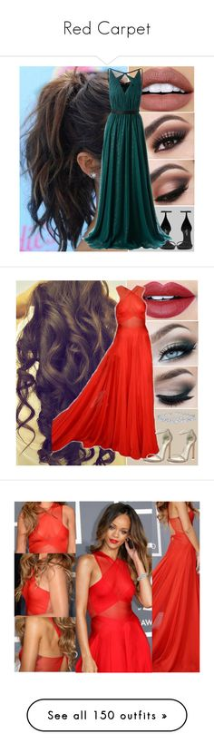 """Red Carpet"" by veronxca-k ❤ liked on Polyvore featuring NYX, Anastasia Beverly Hills, Yves Saint Laurent, Jason Wu, Fiebiger, Stuart Weitzman, Harry Winston, Natasha Collis, BERRICLE and MAC Cosmetics"