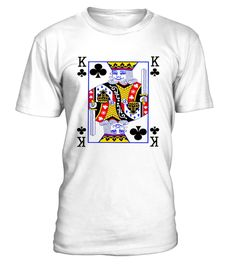 King Of Clubs Playing Card Poker Costume Card Tee Shirt