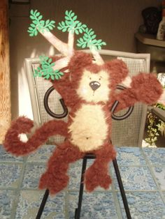 monkey center pieces for kids party