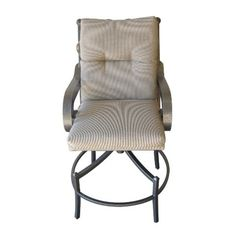 Sundance Southwest Rocker Swivel Chair with Cushion - Bronze Powder Coat with Fabric Choice - Counter Height Patio Chairs, Outdoor Chairs, Outdoor Furniture, Outdoor Decor, Stone Edging, Modern Patio, Swivel Chair, Counter, Outdoor Living