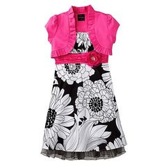 Think this will be a cute dress for church and the jacket is seperate so she can wear it all spring too!