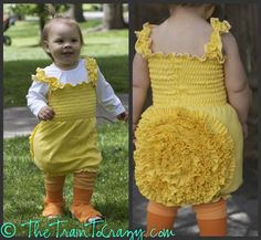 The Train To Crazy: How to make a duckling costume