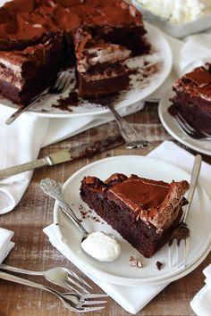 Chocolade meringue taart