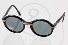 Image of Cartier Cabriolet black 49-20 :: Vintage Sunglasses