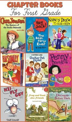 Chapter Books For First Grade! Check out these great titles that will keep your first grader wanting to turn page after page!