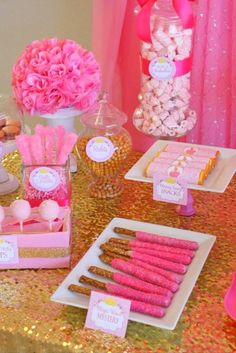 Pink Princess Party - LABELS - Bridal Shower - Birthday Want more business from social media? Pink Princess Party, Baby Shower Princess, Princess Birthday, Girl Birthday, Birthday Crowns, Sleeping Beauty Party, Table Rose, Party Food Labels, Party Favors