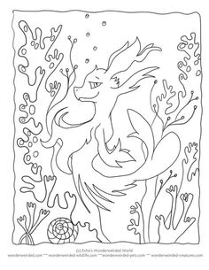 ocean dragon coloring pages - photo#47