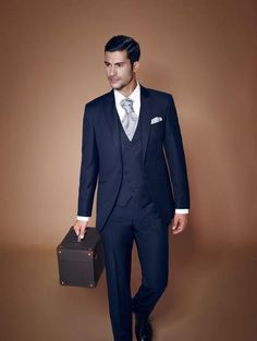 Find More Suits Information about  The blue man wedding suit collar peak groom dresses a button for slimming suit jacket + pants vest groomsman + + tie,High Quality button details,China dresse Suppliers, Cheap dresses pink from Suzhou International Garment Ltd on Aliexpress.com