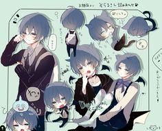 Too kawaii to hold Chibi Cat, Kawaii Chibi, Cute Chibi, Kawaii Anime, Vocaloid, Manga Boy, Manga Anime, Anime Art, Anime Child