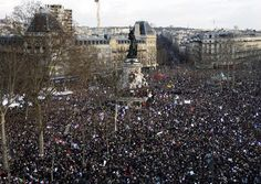 Historical Unity Rally in Paris, France, 11 January, 2015