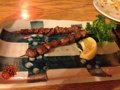 Grilled Chicken Gizzards - at Maekawa Bar