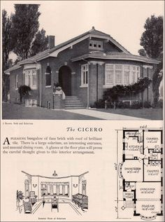 Home Builders Catalog - 1929 Cicero - American Residential Architecture - Chicago Style Brick Bungalow