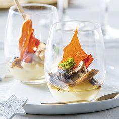 ALDI België - Recept - Glaasje met knolselderpuree, oesterzwammen en bosmengeling