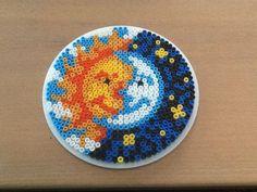 Hama bead the sun and the moon by Randi Frederiksen