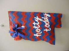Mississippi Ole Miss State Painted Burlap Door by PaintMeASmile, $30.00