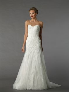 Sweetheart A-Line Wedding Dress  with Natural Waist in Tulle. Bridal Gown Style Number:33129669