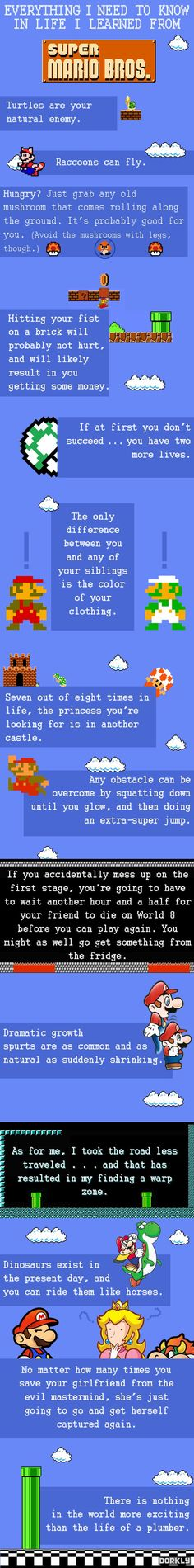 Life lessons learned from Super Mario Bros.