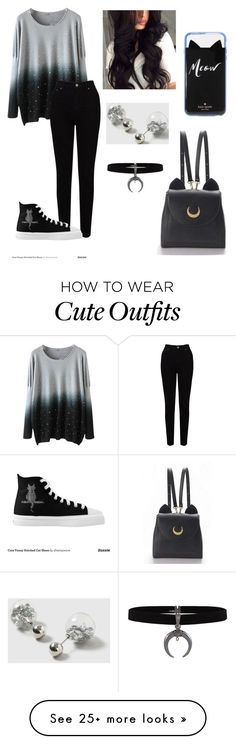 """School Outfit #5"" by crynared on Polyvore featuring EAST, WithChic, Dorothy Perkins and Kate Spade"