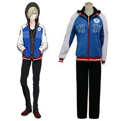 Yuri on Ice YURI!on ICE Plisetsky Yuri Sportswear Suit Outfit Cosplay Costume Anime, The Best Anime and Moive and Game Cosplay Costume Online Shop, High Quality Cosplay Costumes From CosplayMade Canada Shop. Cosplay Costumes For Sale, Buy Cosplay, Anime Costumes, Cosplay Ideas, Couples Cosplay, Yuri Plisetsky, Yuri On Ice, Costume Accessories, Motorcycle Jacket